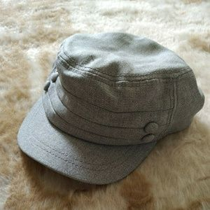 Grey Military Style Hat